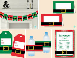 christmas party decorations u0026 scavenger game magical printable