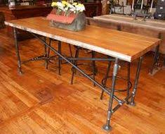 bar height table industrial industrial bar height table yellow chair market twc interiors