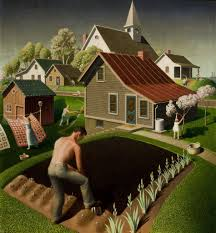 grant wood spring in town 1941 whitney museum of american art