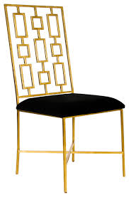 Black Velvet Dining Room Chairs by Tetris Hollywood Regency Silver Black Velvet Dining Side Chair