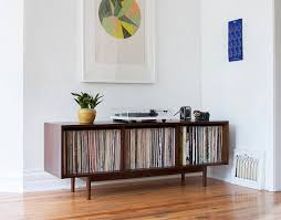 Record Storage Cabinet Mid Century Large Record Storage Cabinet Console