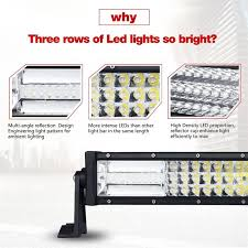 curved marine led light bar auxmart curved 32 405w led light bar offroad combo 3 row led bar