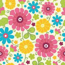 kimono repeat pattern colorful kimono flowers seamless pattern stock vector illustration