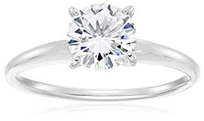 solitare ring platinum plated sterling silver cubic zirconia