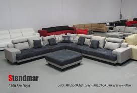 Big Sectional Sofas by Product Reviews Buy 5pc New Modern Gray Microfiber Big Sectional