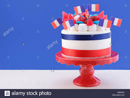 happy bastille day celebration cake with flags marshmallow and