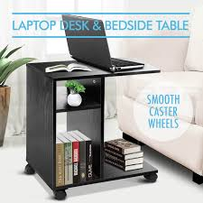 mobile computer laptop desk side bedside table notebook stand