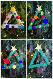 Easy Christmas Tree Decorations Diy Kids Craft Stick Christmas Tree Ornament Tgif This Grandma