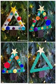 diy craft stick tree ornament tgif this