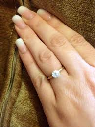 small wedding rings images Anyone with small stone engagement rings weddingbee page 9 jpg