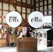 large white balloons mr mrs white balloons large wedding balloons engaged