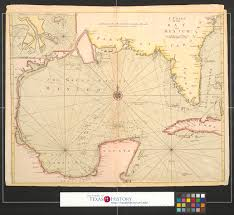 Mexico Map 1821 by A Chart Of The Bay Of Mexico The Portal To Texas History