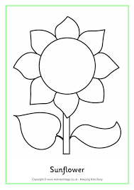 Sunflower Colouring Page 2 Sunflower Coloring Page