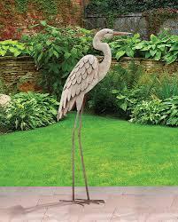 regal gift lg egret standing garden outdoor