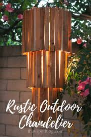 Easy Diy Chandelier Make An Outdoor Rustic Chandelier An Easy Diy The V Spot