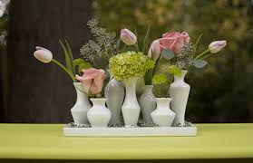 bud vase garland ceramic vase cluster tray set rectangle bud vase centerpiece white