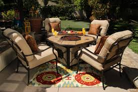 Agio Patio Dining Set by Agio Heritage Fire Pit With Tile Inlay Mathis Brothers Furniture