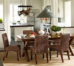 Seagrass Chairs Rustic Pottery Barn Kitchen Table Honey Seagrass Chiars 6pc Dining