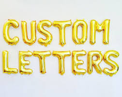 gold letter balloons gold letter balloons number balloons foil 16 inches