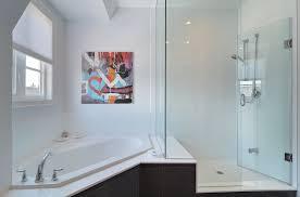 Corner Bathtub Ideas Corner Tub Ideas Bathroom Contemporary With Artwork Corner Tub