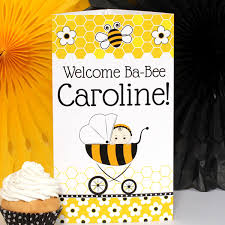 bee baby shower bumble bee baby shower personalized centerpiece
