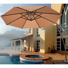 Patio Umbrella Lighting by Outstanding Patio Umbrellas With Lights Including Outdoor Trends