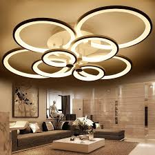 Lighting Ceiling Fixtures Blue Time Acrylic Modern Led Ceiling Lights For Living Room