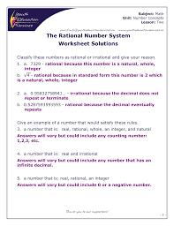 rational number worksheet worksheets