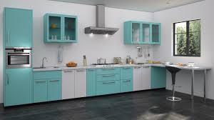 blue u0026 white modular kitchen design straight kitchen designs