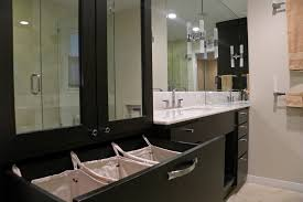 Bathroom Cabinet With Built In Laundry Hamper Built In Laundry Hamper Laundry Room Contemporary With Shelves
