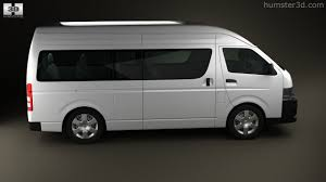 toyota hiace 2014 360 view of toyota hiace super long wheel base 2012 3d model
