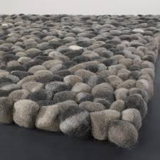Pebble Stone Rug District17 Stones Wool Ball Rug In Dark Gray Natural Fiber Rugs