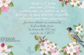 texte anniversaire 50 ans de mariage invitation anniversaire 50 ans oiseau vintage 123 cartes