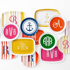 monogrammed trays monogrammed melamine tray solid and graham