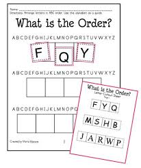 55 best alphabet order images on pinterest word work and