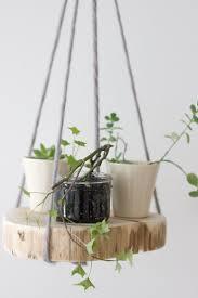 diy round wood shelf plant hanger simple projects cedar wood