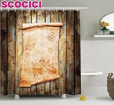 treasure map shower curtain interior home design ideas