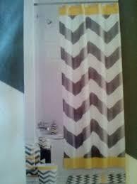 Yellow And White Shower Curtain Bathroom Interior Pc Gray Yellow White Chevron Fabric Shower