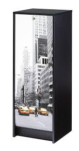 classeur de bureau pas cher classeur à rideau design noir york meuble de rangement bureau