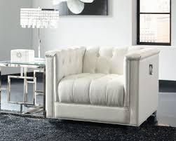 White Living Room Sets Coaster Chaviano Pearl White Living Room Set Chaviano Collection