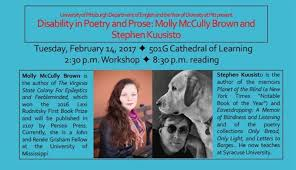 Planet Of The Blind Disability In Poetry And Prose Reading With Brown U0026 Kuusisto At