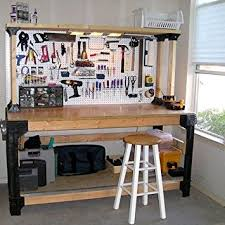 Wooden Shelf Building by Amazon Com Workbench Table Kit Diy Bench Custom Storage Wooden