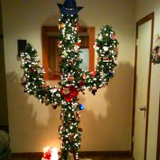 Southwestern Christmas Decorating Ideas Cactus Christmas Tree A Very Merry Christmas Time Pinterest