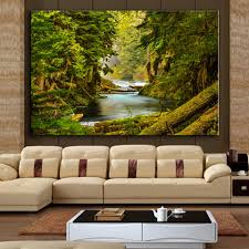 Wall Paintings For Living Room Online Get Cheap Jungle Paintings Aliexpress Com Alibaba Group