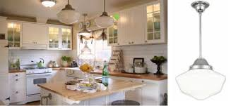 Cottage Kitchen Lighting by Schoolhouse Pendants In Old Cottage Kitchen Blog