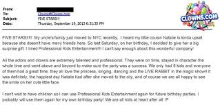 clowns for birthday in nyc clowns testimonials reviews new york clowns