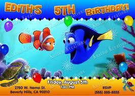 shark birthday invitations finding dory birthday invitations kustom kreations