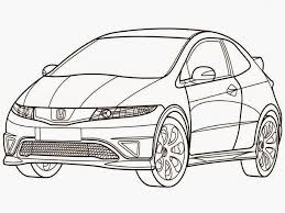 honda civic type r coloring pages realistic coloring pages