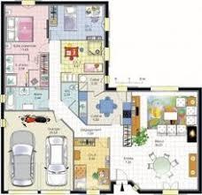 plan de maison 100m2 3 chambres modèle de plan de maison plain pied avec 3 chambres et garage 2