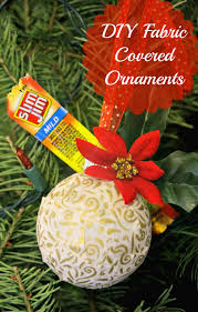 easy diy fabric covered ornaments tutorial slimjimyourholiday